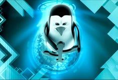 3d penguin usb symbol concept Royalty Free Stock Image