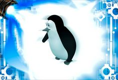 3d penguin welcome with open arms illustation Stock Images