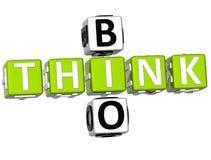 3D pensam bio palavras cruzadas Fotos de Stock