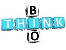 3D pensent de bio mots croisé Photos stock
