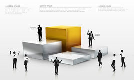 3D  people around the chart. Illustration of 3D  people around chart Royalty Free Stock Image
