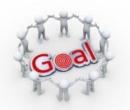 3d people around word goal Stock Photo