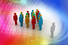 3d people arrange in que Royalty Free Stock Image
