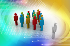 3d people arrange in que Royalty Free Stock Images