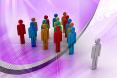 3d people arrange in que Stock Images