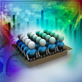 3d people in box, team work concept. In colorful background Royalty Free Stock Photography