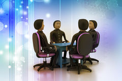 3d people in business meeting Royalty Free Stock Photos