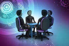 3d people in business meeting Stock Photography
