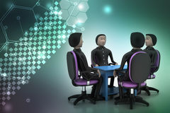 3d people in business meeting Royalty Free Stock Images