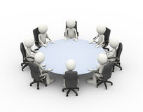 3d people business meeting conference table royalty free illustration