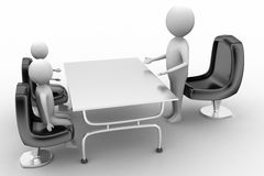 3D people in a business meeting Royalty Free Stock Photos