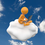 3D people cloud computing Royalty Free Stock Photography