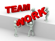 3d people - concept of team work Stock Image