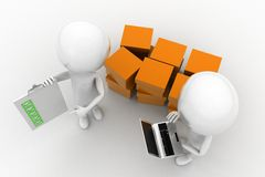 3d people delivery concept Stock Image