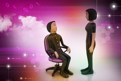 3d people in discussion Stock Photography