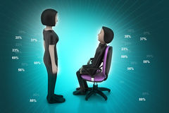 3d people in discussion Stock Photo