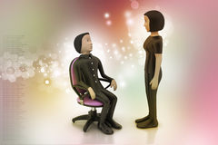 3d people in discussion Royalty Free Stock Photos