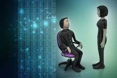 3d people in discussion Stock Photos