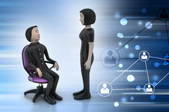 3d people in discussion Royalty Free Stock Image
