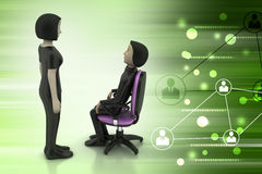 3d people in discussion Royalty Free Stock Images