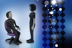 3d people in discussion Royalty Free Stock Photo