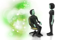 3d people in discussion Royalty Free Stock Photography