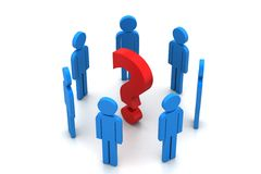 3d people in doubt Royalty Free Stock Image