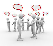 3d people empty speech bubble Stock Image