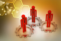 3d people in gear, team work concept Royalty Free Stock Photography