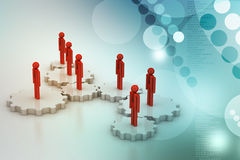 3d people in gear, team work concept Royalty Free Stock Photo