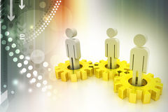 3d people in gear, team work concept Royalty Free Stock Images