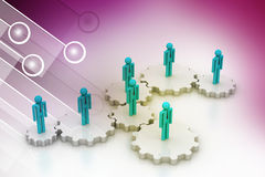 3d people in gear, team work concept Royalty Free Stock Photos