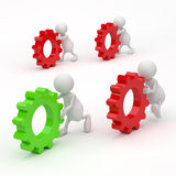 3D People with Gears Success concept Royalty Free Stock Images
