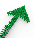 3d people green arrow. 3d rendering  of green arrow collection made up of people man symbols Royalty Free Stock Photography