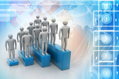 3d people in group, leadership concept Stock Photos