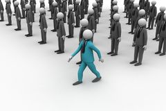 3d people in group stock image