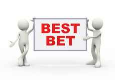 3d people holding best best board Stock Photography