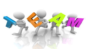 3d people holding letters. T  E  A  M Stock Images