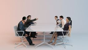 3d people - human character, person at conference table Stock Photo