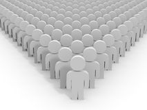 3D people. Leader. Royalty Free Stock Image