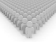 3D people. Leader. 3D illustration stock illustration