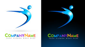 3D People Logo Stock Photos