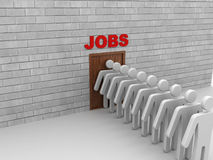 3d people looking for job Royalty Free Stock Photography