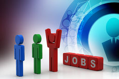 3d people looking for a job Stock Photography