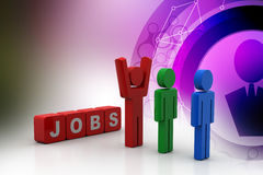 3d people looking for a job Stock Photo