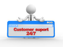 Customer suport 24/7 Royalty Free Stock Images