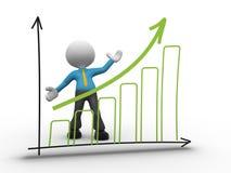 Graph chart Stock Photos