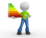 Energy chart Royalty Free Stock Photography