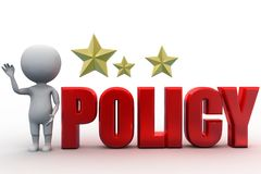3d people - man, person with policy concept Stock Photo