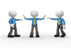 Businessmen. 3d people - man, person talking. Businessman separated Royalty Free Stock Photos
